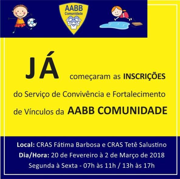AABB Comunidade Inscrições