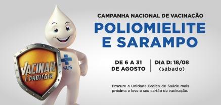Campanha Vacinação Sarampo e Poliomielite
